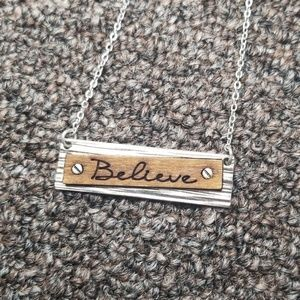 """NWOT 16"""" Two Tone Believe Necklace 💕"""